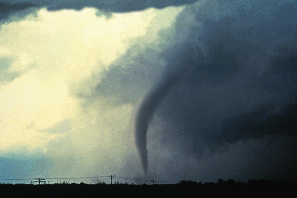 Tornado over Oklahoma Town